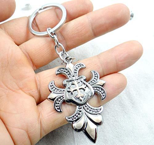 Zbzmm Sleutelhanger mode creatieve sleutelhanger ring kruis hanger cadeau gereedschap mencar sleutelhanger accessoires
