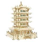 XW Rompecabezas De Madera 3D Rompecabezas - China Modelo De Edificio De Corte Láser De Torre De Grúa Amarilla con Luces De Colores Y Altavoces Bluetooth - Juguetes De Bricolaje Montado A Mano