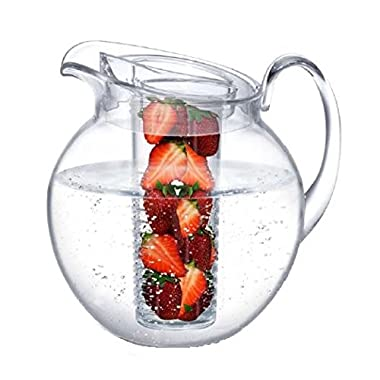 Prodyne Big Fruit Infusion Pitcher, 3.5 quart/112 oz