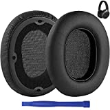 Replacement Ear Pads for Edifier W830BT W860NB Headphones Earpads Protein Leather Ear Cushion Cups Headset Ear Cover Repair Parts (Black)