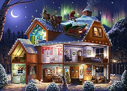 5D DIY Diamond Painting Kits Diamond Christmas Santa Claus Reindeer Sleigh Rhinestone Diamond Painting Cross Stitch Art 40X50Cm