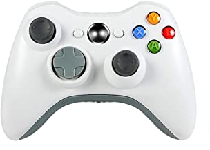 JAMSWALL Xbox 360 Wireless Controller, Game Controller Gamepad Joystick for Xbox & Slim 360 PC Windows 7,8,10 (White)