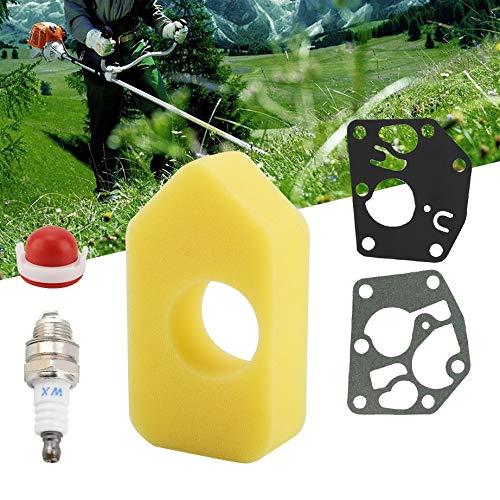 Duokon Luftfilter Zündkerzendichtungssatz Mäher Ersatzteile Luftfilter mit Primer für Briggs & Stratton 795083 698369 694394