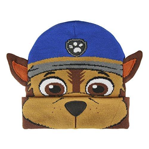 Paw Patrol 2200002496 Chase 3D Effect Children's Beanie Hat, Unisex-Child, One Size