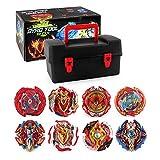 WULAU Trottole da Combattimento - Beyblade Burst - Giocattoli educativi - 1 Set Beyblade Gyro Toy Kids (8 Trottole + 17 Accessori Speciali)