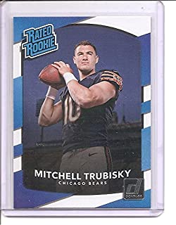 Mitchell Trubisky Chicago Bears 2017 Donruss Rated Rookie Football Card #328