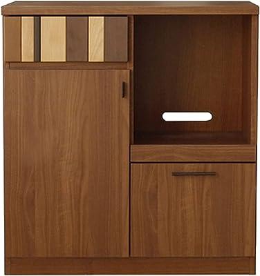 ガルト(Gart) 食器棚 ブラウン 幅80cm ルカ カウンター