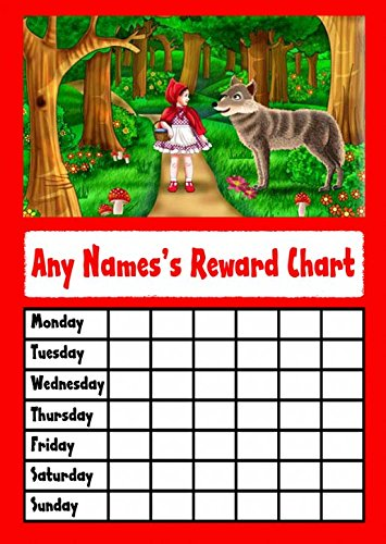 Little Red Riding Hood Star Sticker beloningskaart
