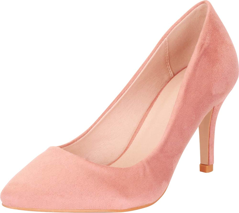 Cambridge Select Women's Classic Pointed Toe Slip-On High Heel Pump