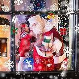 AmzKoi 160 Fensterbilder Selbstklebend, 6 Blätter Schneeflocken Fenstersticker Winter Deko Weihnachtsdeko, Fensterbilder Schneeflocken Wiederverwendbar - 6