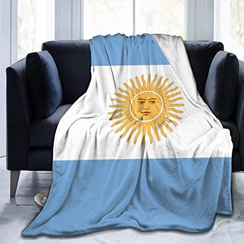 Ahdyr Manta de Lana Hermosa Bandera de Argentina Microfibra Mantas de Cama livianas Mantas de Ropa de Cama súper Suaves Tamaño de Tiro 50x40 60x50 80x60 Pulgadas