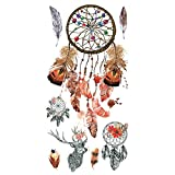 Supperb Temporary Tattoos - Dream Catcher Dreamcatcher Colorful Henna Feather Bohemian Tattoo