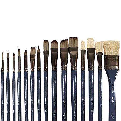 Mont Marte Premium Paint Brush Set 15 Piece