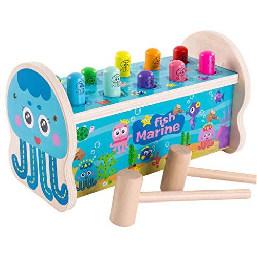 Puzzle Games Whack A Mole Snelle Reflexen Educatief Speelgoed Met Massief Houten Hammer Peg Pounding Bench Hit Mole Hamster Voor 2 3 Jaar Oud Kind Child Baby Dreumes,A
