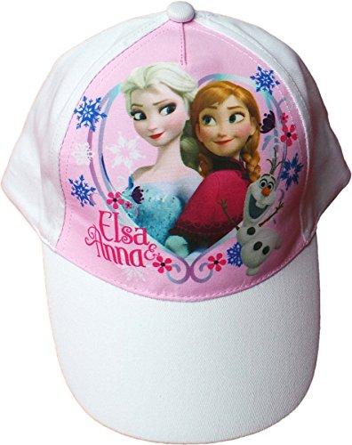 Disney Frozen/Die Eiskönigin Cap - EIN Herz für Immer - Anna, ELSA und Olaf - Weiß/Rosa/Mehrfarbig