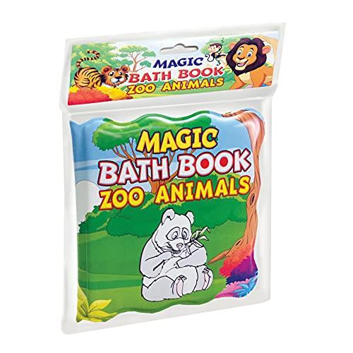 Zoo Animals Magic Bath Book - Colour Changing Fun Book for Children