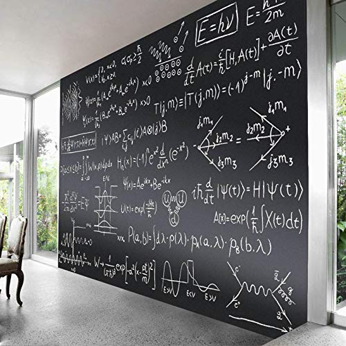 ZHIDIAN Magnetic Chalkboard Contact Paper for Wall, 48' x 36' Non-Adhesive Back Chalkboard Wallpaper, Blackboard Wall Sticker with Chalks for Home/School/Playroom
