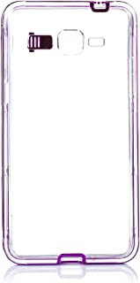 Silica DMU099PINK Transparent Silicone Case with Metallic Edges and Tab for Samsung G530 Flash Pink