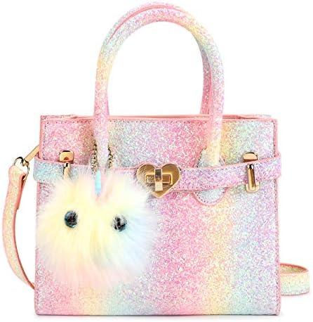Mibasies Unicorn Kids Purse for Little Girls Rainbow Toddler Crossbody Handbags product image