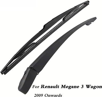 SLONGK Escobillas del Limpiaparabrisas Trasero del Automóvil Atrás Brazo del Limpiaparabrisas, para Renault Megane 3