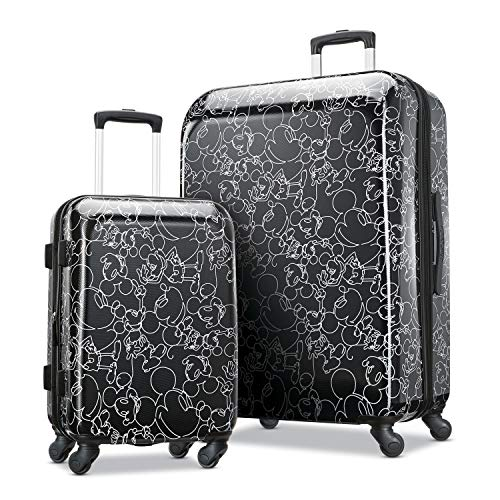 American Tourister Disney Hardside Luggage with Spinner Wheels Mickey Mouse Scribbler MultiFace 2Piece Set 21/28