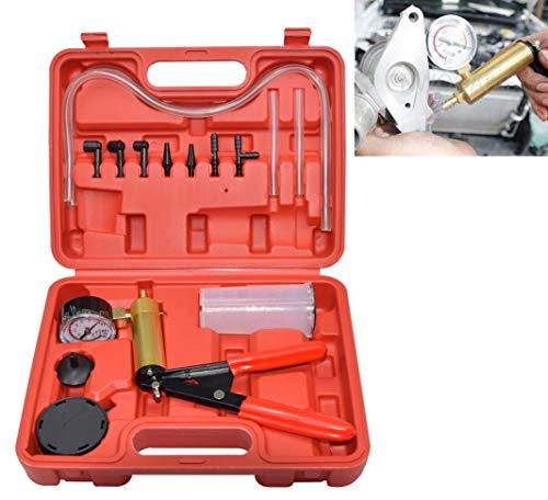 CNWOOAIVE Kit Tester per Pompa della Pressione del Vuoto Manuale, Set di Spurgo del Liquido dei Freni per Camion di Motocicli per Autoveicoli