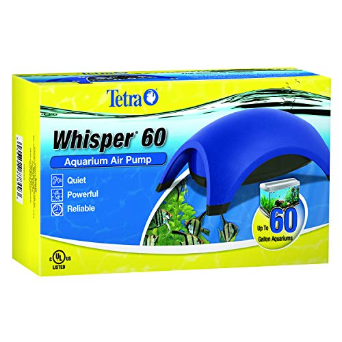 Tetra 77849 Whisper Air Pump 40 to 60 Gallons, for Aquariums, Quiet, Powerful Airflow