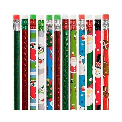 Christmas Holiday Theme Pencils Varied - 2 Dozen