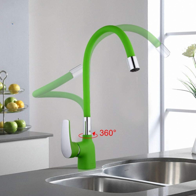 Mzdpp Grüne Silikagel-Nase In Jede Richtung Küchenarmatur Kalt- Und Warmwasser-Mischkran