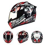 Goolife Moto Crash Modulare Casco Alta Sicurezza-Zeus Full Face Racing Casco Moto per Adulti Uomini Donne,XXL
