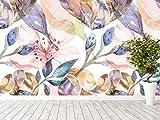 Oedim Papel Pintado para Pared Flores Acuarelas con Textura | Fotomural para Paredes | Mural | Papel Pintado | 100 x 70 cm | Decoración comedores, Salones, Habitaciones