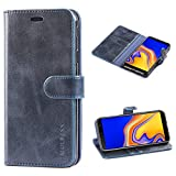Mulbess Samsung Galaxy J4 Plus Case Wallet, Leather Flip