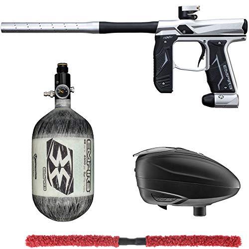 Action Village Empire Axe 2.0 Contender Paintball Gun Package Kit (Dust Silver/Dust Black, Tank Size: 68/4500)