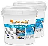 Tecno Prodist Sal Piscinas Sal Especial para la cloración Salina de Piscinas, SPA o Jacuzzis - Pack 2 Cubos de 12 KG Fácil Aplicación