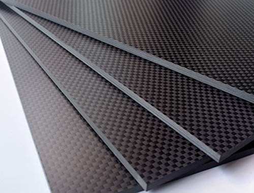 cncarbonfiber 2mmx200mmx300mm Plain Matte Carbon Fiber Sheet Plate Panel,1mm 1.5mm 3mm 4mm are Available