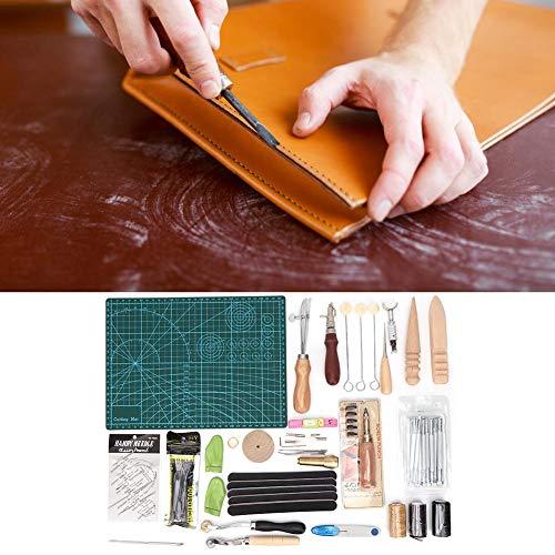 Filfeel 【𝐅𝐫𝐮𝐡𝐥𝐢𝐧𝐠 𝐕𝐞𝐫𝐤𝐚𝐮𝐟 𝐆𝐞𝐬𝐜𝐡𝐞𝐧𝐤】 Leder-Nähwerkzeuge, DIY Handarbeit Handwerk Leder-Nähwerkzeuge Nadelwachs Faden Stanzloch Werkzeugsatz 50St