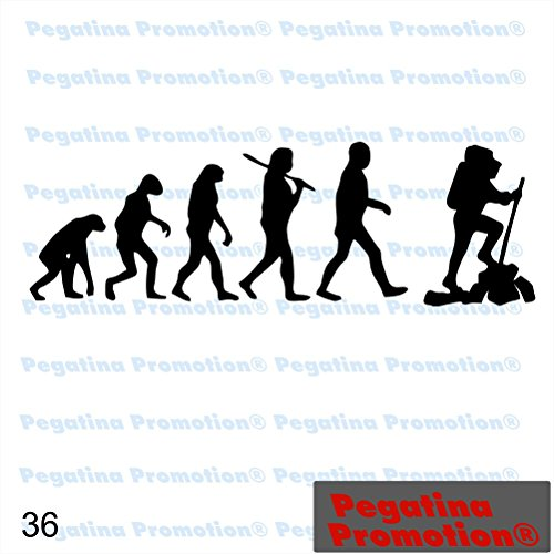 Evolution Affe zu Wanderer Kletterer Bergsteiger Hobby Aufkleber, ca.20 cm breite Hobbys Auto Autoaufkleber Sticker Heckscheibe Lack Vinyl Sport Sportaufkleber Auto-Aufkleber von Pegatina Promotion® A