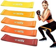 WOTEK Elastici Fitness Bande Elastiche Fitness - Fasce Elastiche di Resistenza di Lattice Naturale 5 Livelli di...