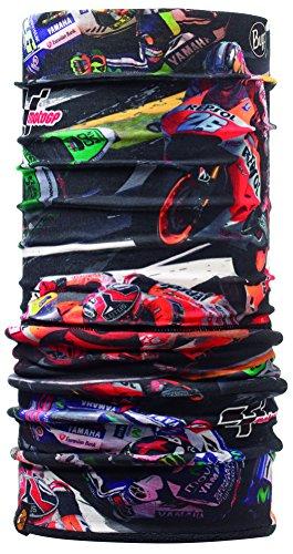 Buff Fleece ÉCharpe Multifonctionnel avec Laine Polaire MOTOGP Riders/Noir (Motos coloré), Polyester, Taille Unique