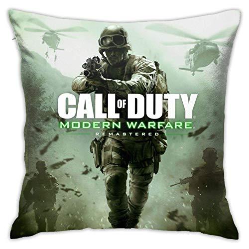 Duty Modern Warfare - Fundas de cojín decorativas cuadradas acogedoras Call of...