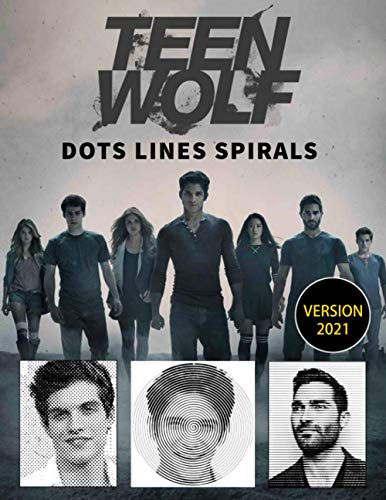 Teen Wolf dots lines and spirals: Teen Wolf coloring book