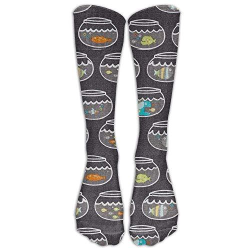 hdyefe Fish Tank Compression Socks Soccer Socks High Socks Long Socks For Running,Medical,Athletic,Edema,Diabetic,Varicose Veins,Travel,Pregnancy,Shin Splints,Nursing.