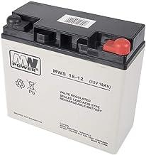 PNI ACC1812 Batería de Gel MW 18-12S 12V / 18Ah, Gris/Negro