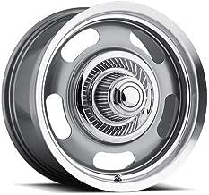 4 Vision 55 Aluminum Rally 17x8 5x4.75/5x5 +0mm Gunmetal Wheels Rims