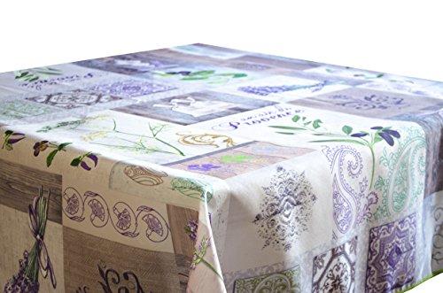 Tischdecken Air de Provence schmutzabweisend Farben im Frühjahr Dekoration 130 x 150 cm