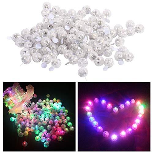 Xiangmall 100 Pcs Mini Led Balloon Lights Balloon Lamp para Linterna de Navidad Decoración (vistoso)