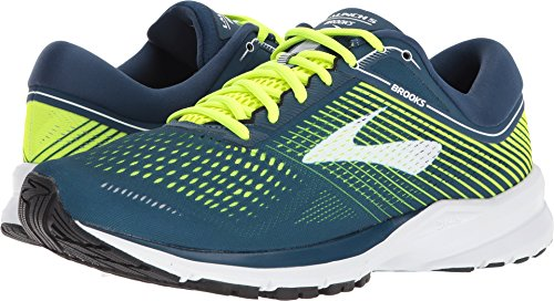 Brooks Mens Launch 5 - Blue/Nightlife/White - D - 10.0