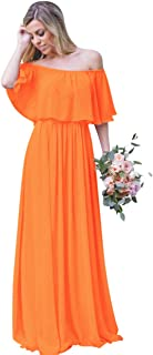 Andybridal Women's Off The Shoulder Long Party Gowns Bridesmaid Dress