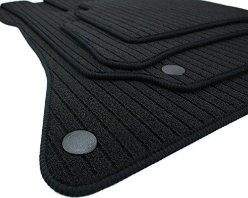 kfzpremiumteile24 Fußmatten / Velours RIPS Automatten Premium Qualität Stoffmatten 4-teilig schwarz