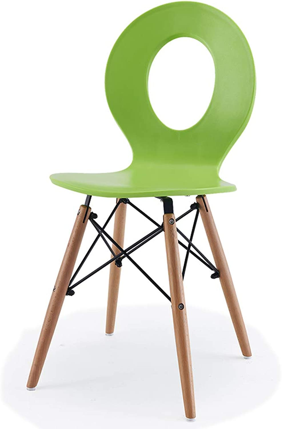 CXQ Creative Casual Fashion Solid Wood Dining Chair Modern Minimalist Plastic Chair to Discuss Household Stool (color   Green)
